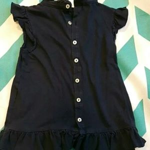 Ralph Lauren Short Sleeve Navy Shirt 3T